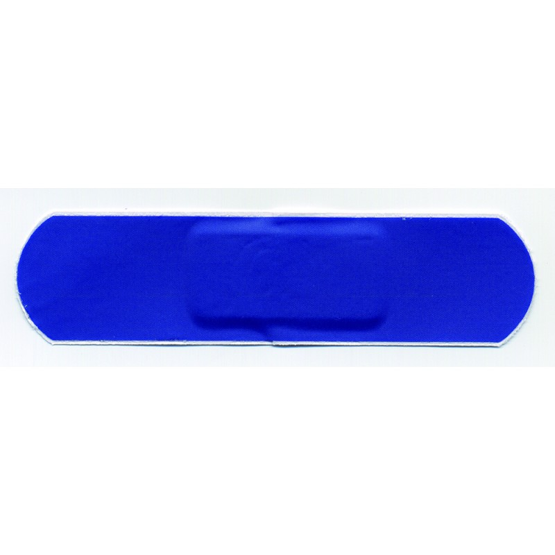 blue plasters 4cm x 4cm box of 100