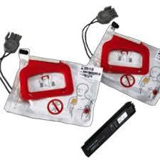 lifepak battery charge-pak with two sets of pads
