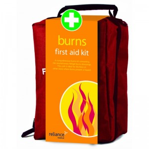 burns first aid kit - red stockholm bag
