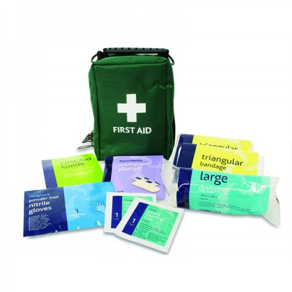 one person first aid travel kit in Helsinki bag
