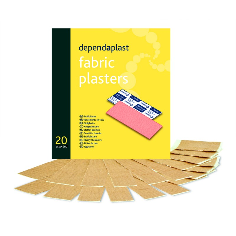 fabric plasters assorted wallet of 20