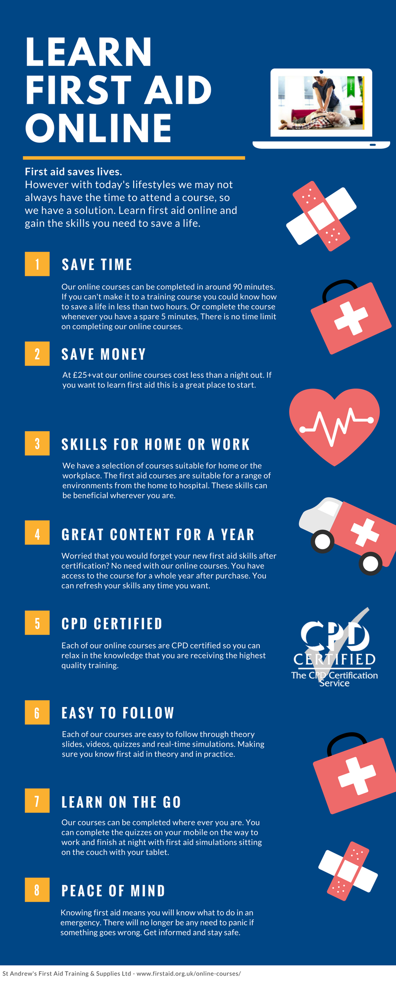 Benefits of First Aid Online Courses - The Reason to Learn First Aid